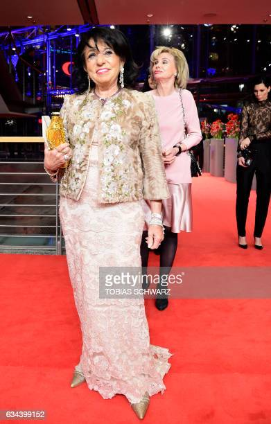 German business woman Regine Sixt arrives for the opening of the Berlinale film festival with the premiere of 'Django' during the 67th Berlinale film...