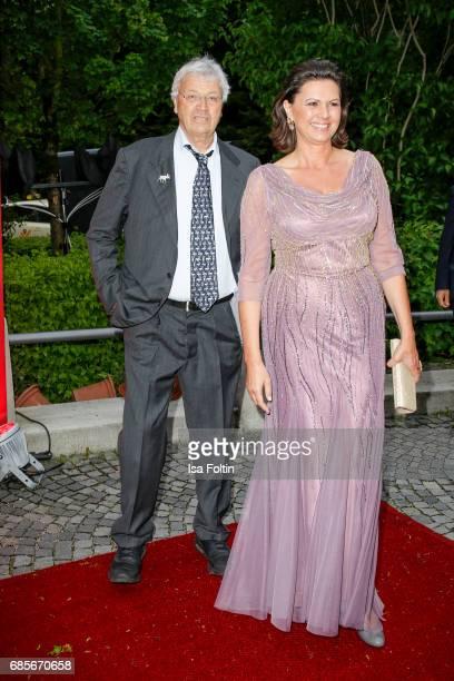 German cabaret artist Gerhard Polt and Bavarian Minister for Economic Affairs Ilse Aigner attend the Bayerischer Fernsehpreis 2017 at...