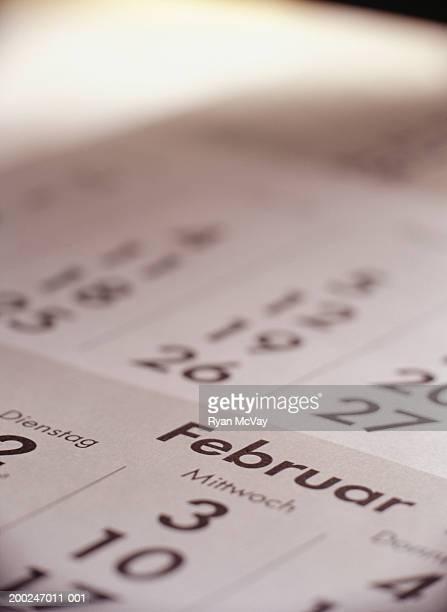 German calendar, elevated view, (Close-up)