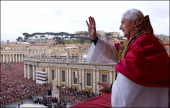 German Cardinal Joseph Ratzinger elected Pope in Rome Italy on April 19 2005