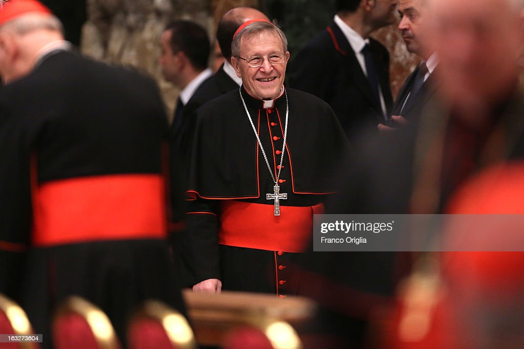 German cardinal Walter Kasper attends a meeting of prayer at St. Peter's Basilica on March 6, 2013 in Vatican City, Vatican. The start-date of the conclave to elect a new Pope, following the resignation of Pope Benedict XVI, has yet to be confirmed as many cardinals have sought more time to discuss the issues currently facing the Catholic church.