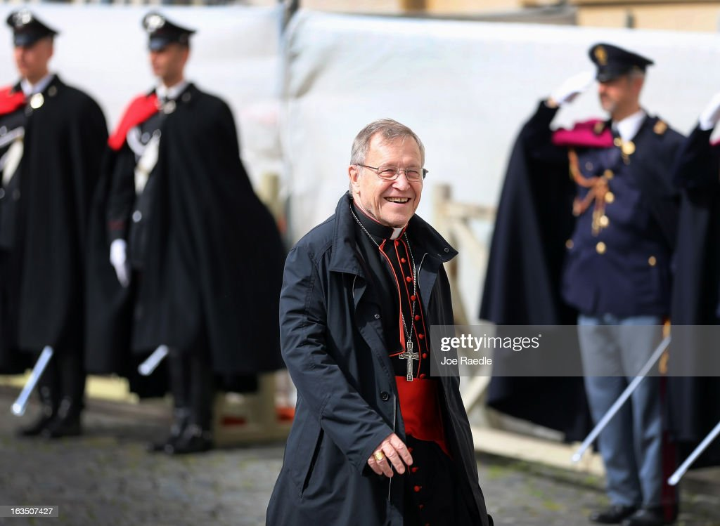 German cardinal Walter Kasper leaves after attending the final congregation before electing a new Pope, on March 11, 2013 in Vatican City, Vatican. Cardinals are set to enter the conclave to elect a successor to Pope Benedict XVI after he became the first pope in 600 years to resign from the role. The conclave is scheduled to start on March 12 inside the Sistine Chapel and will be attended by 115 cardinals as they vote to select the 266th Pope of the Catholic Church.