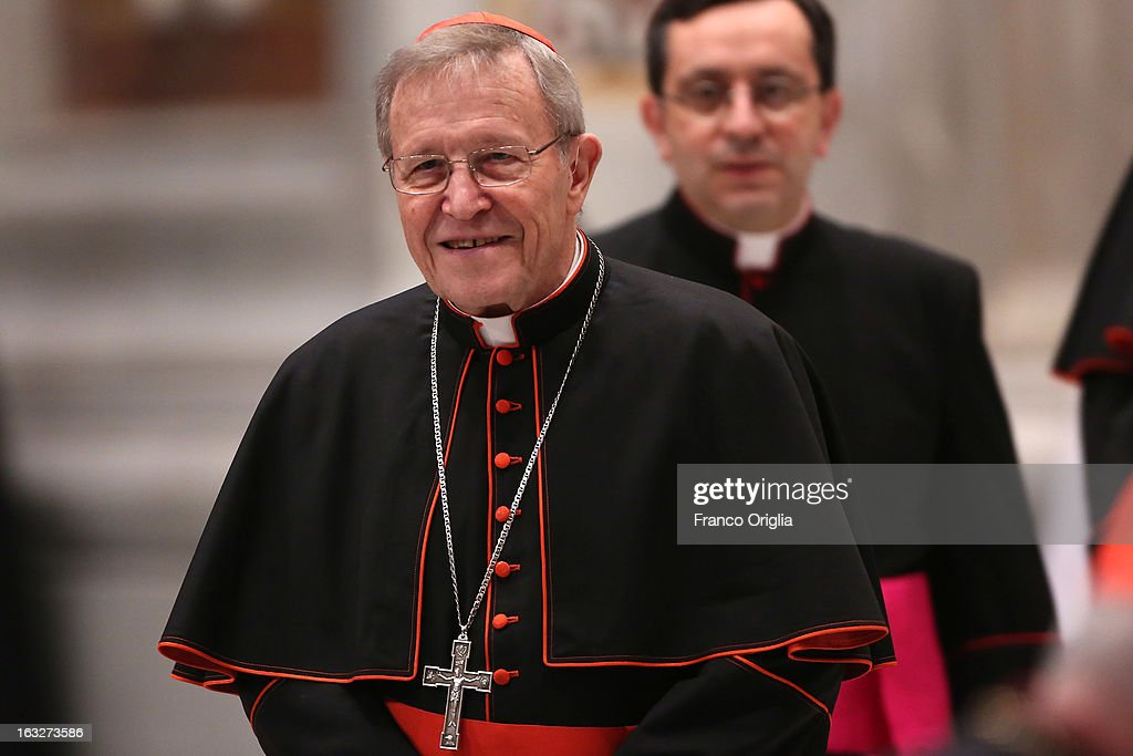 German cardinals Walter Kasper attends a meeting of prayer at St. Peter's Basilica on March 6, 2013 in Vatican City, Vatican. The start-date of the conclave to elect a new Pope, following the resignation of Pope Benedict XVI, has yet to be confirmed as many cardinals have sought more time to discuss the issues currently facing the Catholic church.