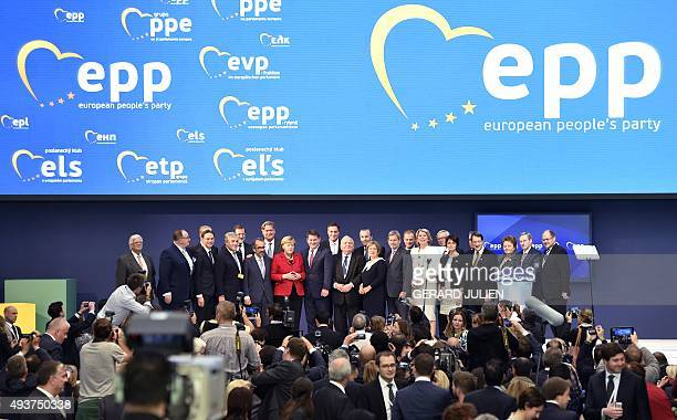 German Chancellor and CDU federal chairwoman Angela Merkel Spanish Prime Minister and leader of the rightwing PP Mariano Rajoy and the new President...