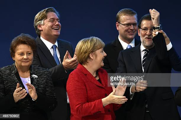 German Chancellor and CDU federal chairwoman Angela Merkel Spanish Prime Minister and leader of the rightwing PP Mariano Rajoy Spanish Secretary...