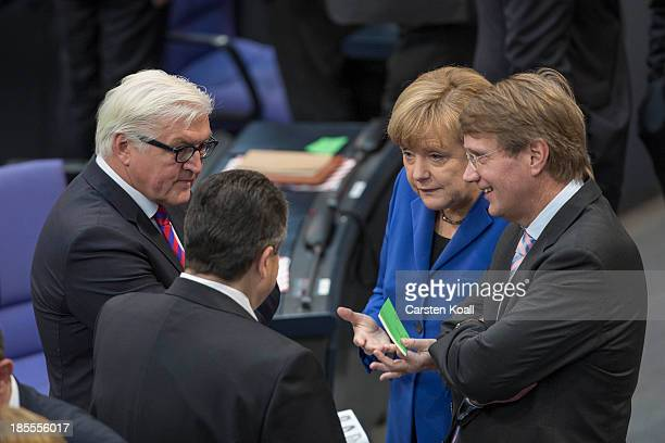 German Chancellor and Chairwoman of the German Christian Democrats Angela Merkel and Chancellery Minister and member of the German Christian...