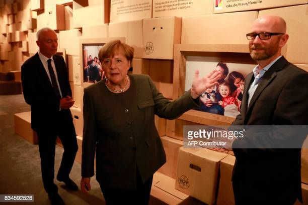 German Chancellor and head of the Christian Democrats party Angela Merkel CDU Secretary General Peter Tauber and federal whip of the CDU Klaus...