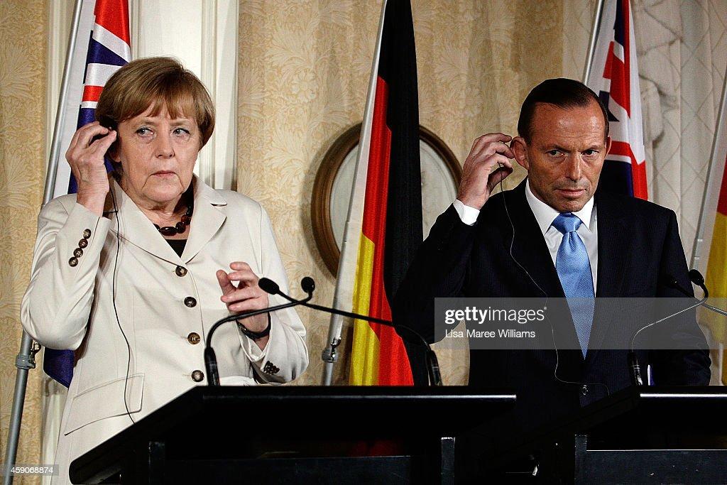German Chancellor Angela Merkel Attends Meetings In Sydney Following G20 Summit
