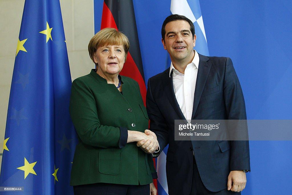 Merkel And Tsipras Meet In Berlin