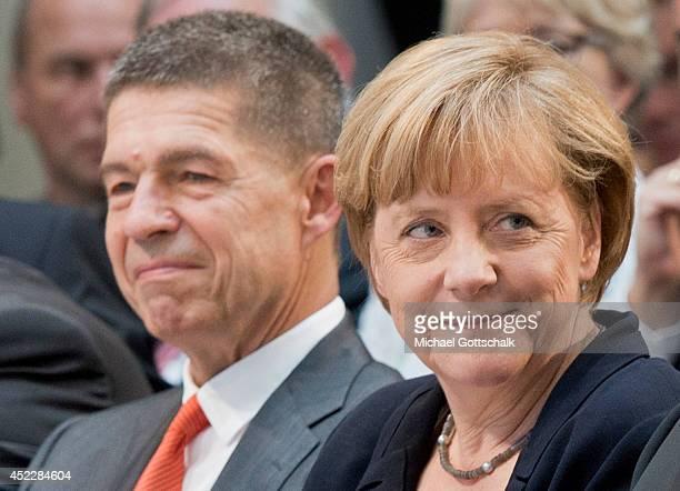 German Chancellor Angela Merkel and her husband Joachim Sauer attend a reception on occasion of German Chancellor Angela Merkel's 60th birthday in...