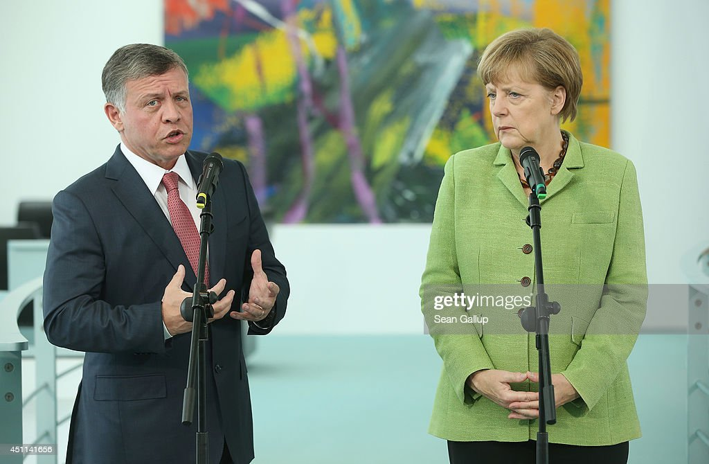 King Abdullah II Of Jordan Meets With Merkel