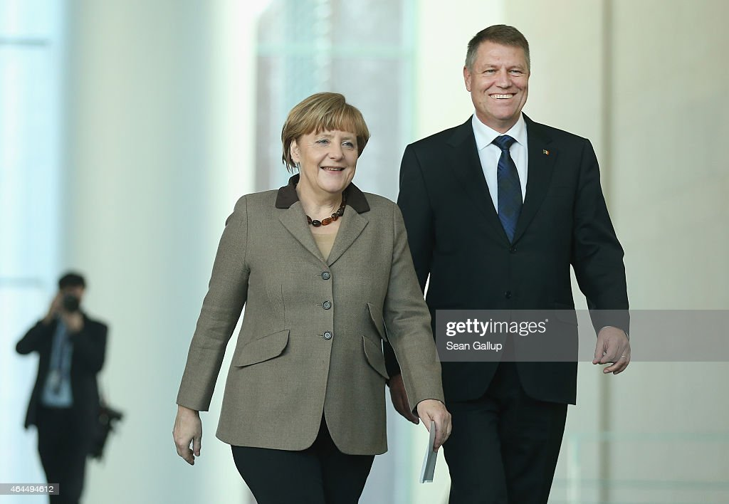 New Romanian President Iohannis Visits Berlin