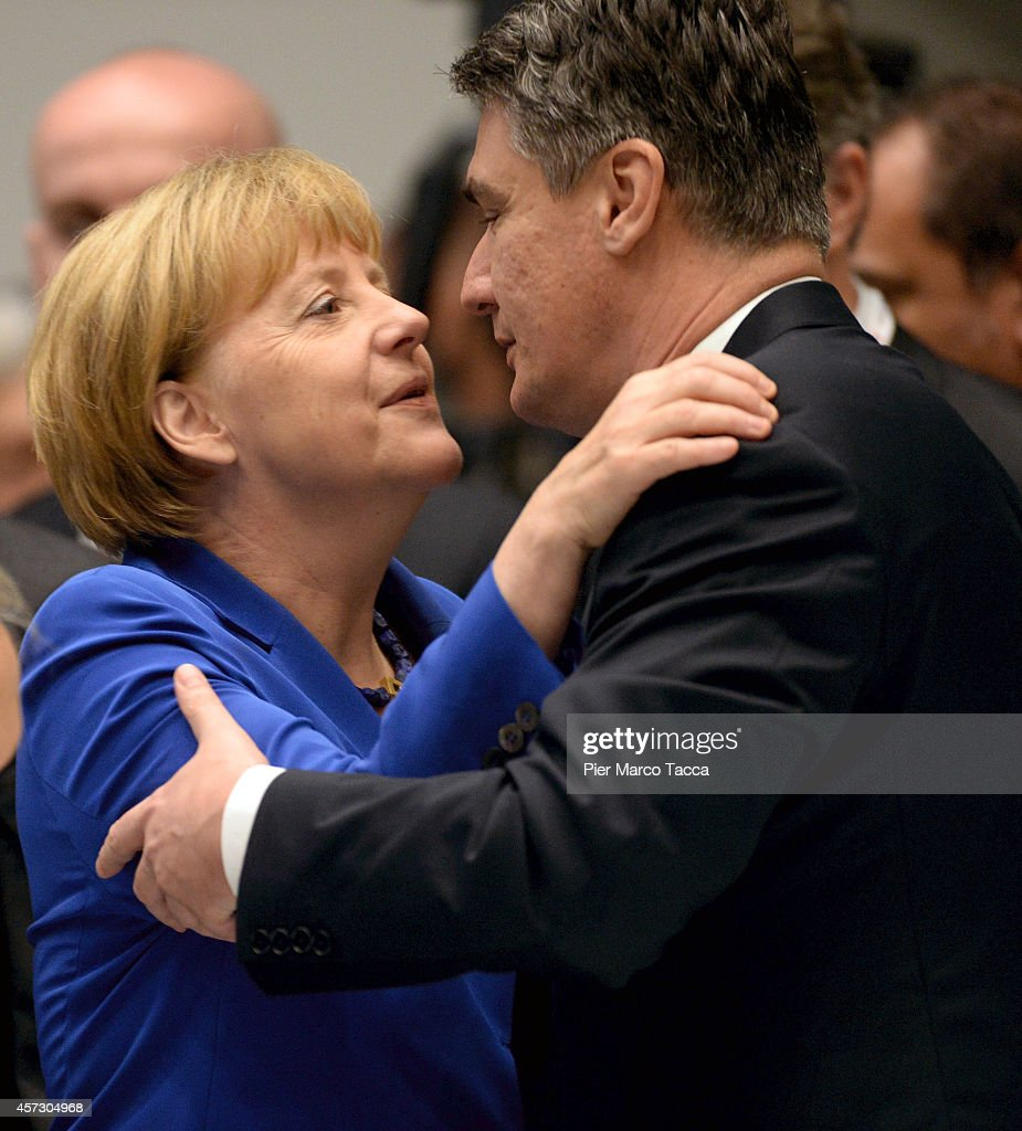 German Chancellor <a gi-track='captionPersonalityLinkClicked' href=/galleries/search?phrase=Angela+Merkel&family=editorial&specificpeople=202161 ng-click='$event.stopPropagation()'>Angela Merkel</a> and Prime Minister of Croatia <a gi-track='captionPersonalityLinkClicked' href=/galleries/search?phrase=Zoran+Milanovic&family=editorial&specificpeople=4663917 ng-click='$event.stopPropagation()'>Zoran Milanovic</a> attend the 10 ASEM Summit with 50 Heads Of State From Europe And Asia on October 16, 2014 in Milan, Italy.The Asia-Europe Meeting (ASEM) was initiated in 1996 when the ASEM leaders met in Bangkok, Thailand. ASEM is an informal trans-regional platform for dialogue and cooperation between Asia and Europe