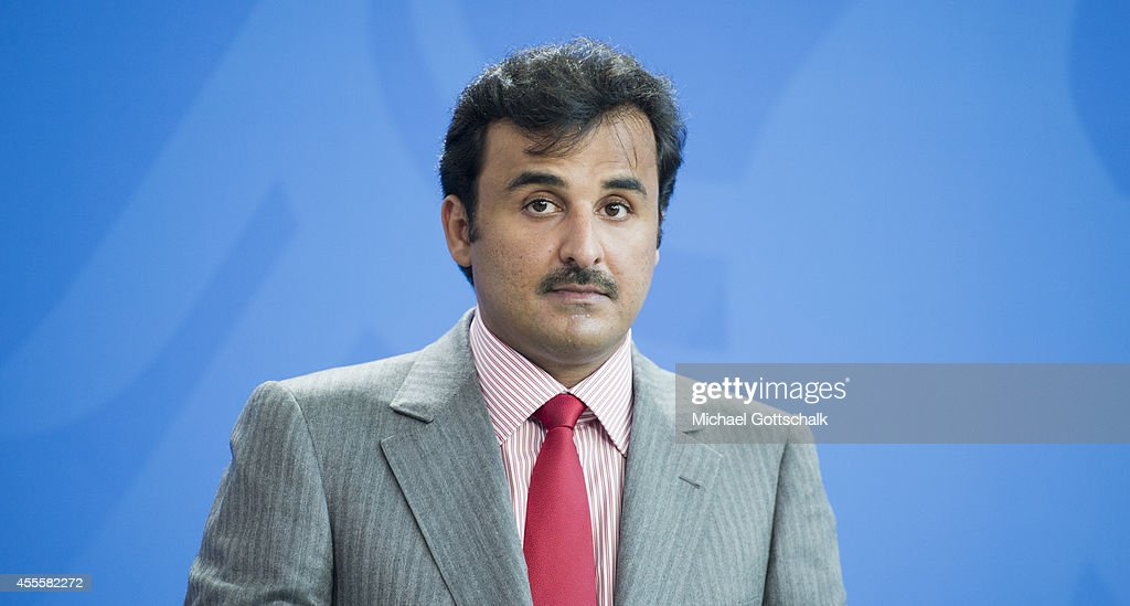 German Chancellor Angela Merkel (not pictured) and Sheikh Tamim bin Hamad Al Thani, the eighth and current Emir of the State of Qatar meet in chancellery on September 17, 2014 in Berlin, Germany. The Qatari monarch, known for his support of sporting events and his position as head of the Qatar Investment Authority board of directors, is visiting Berlin and Bavaria on his trip to the country.