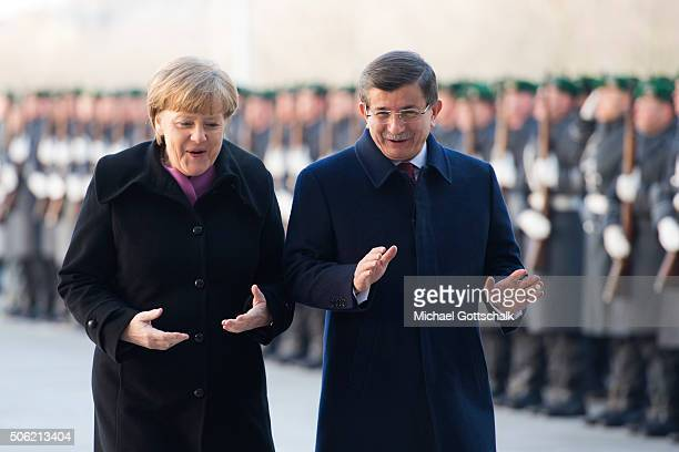 German Chancellor Angela Merkel and Turkish Prime Minister Ahmet Davutoglu meet for GermanTurkish Government Consultations at the Chancellery on...