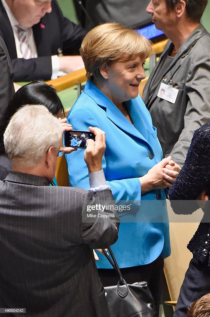 German Chancellor Angela Merkel attends at The United Nations General Assembly on September 25, 2015 in New York City.