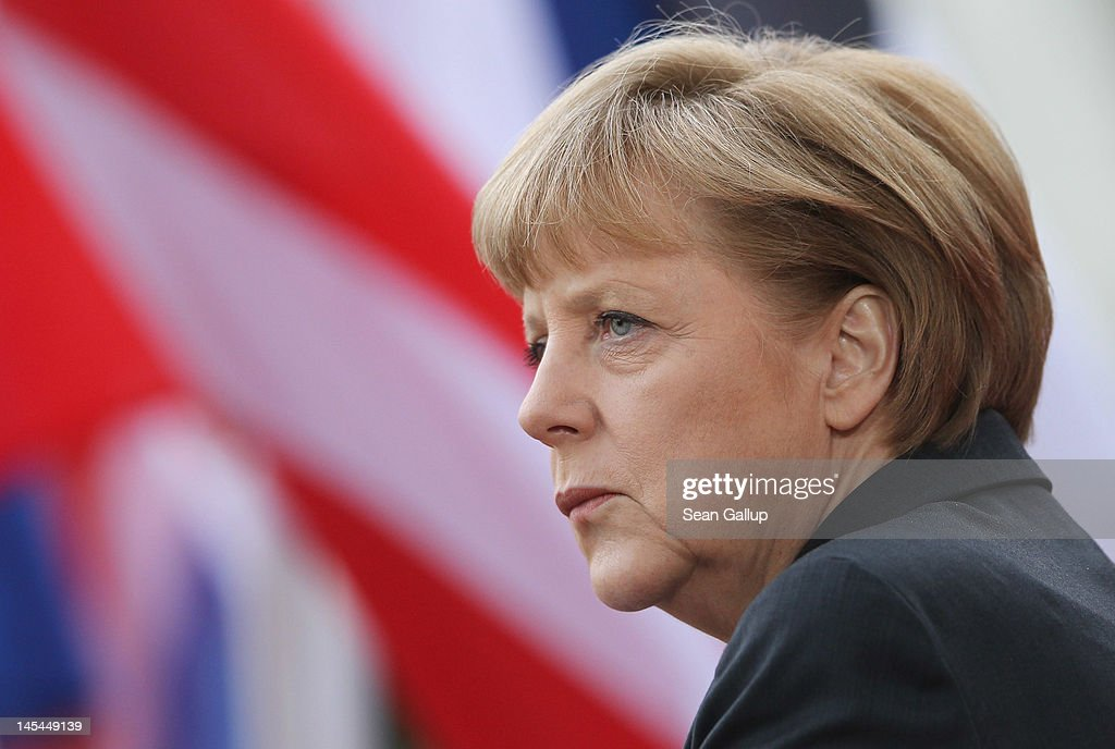 German Chancellor Angela Merkel awaits the arrival of heads of state at the 2012 Council of Baltic Sea States Summit on May 30, 2012 in Stralsund, Germany. Leaders of the eleven member states as well as representatives of the European Union are meeting to discuss matters related to energy, the environment and economic development during the two-day summit.