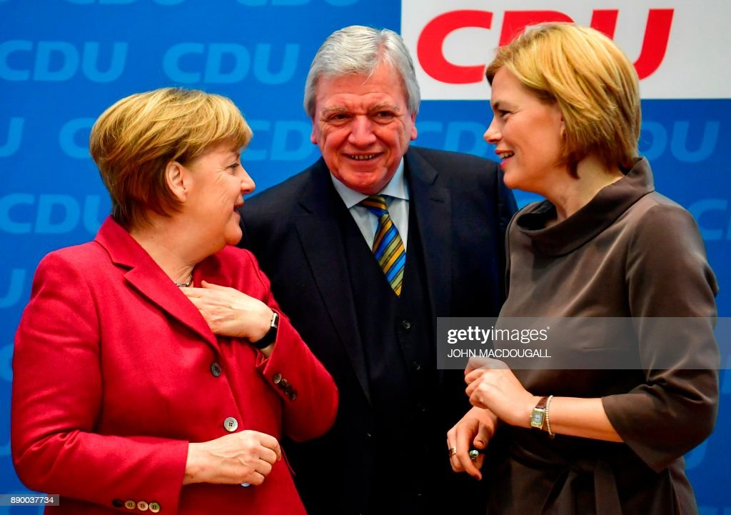 Merkel Speaks Following CDU Meeting Over Coalition With SPD