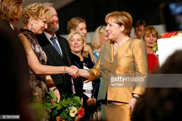German chancellor Angela Merkel during the Bayreuth Festival 2017 State Reception on July 25 2017 in Bayreuth Germany
