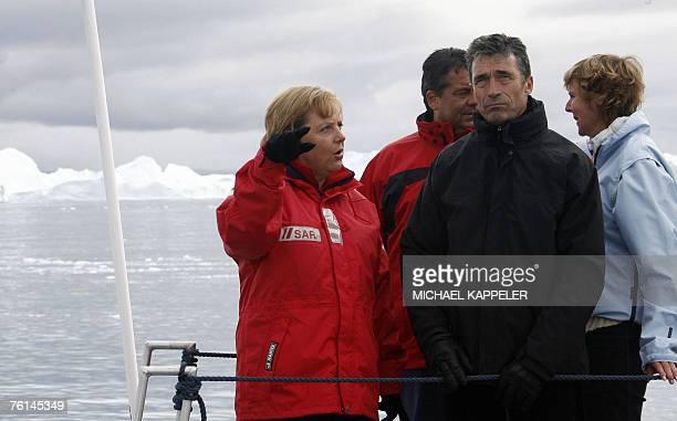 German Chancellor Angela Merkel German Environment Minister Sigmar Gabriel Denmark's Prime Minister Anders Fogh Rasmussen and Denmark's Environment...