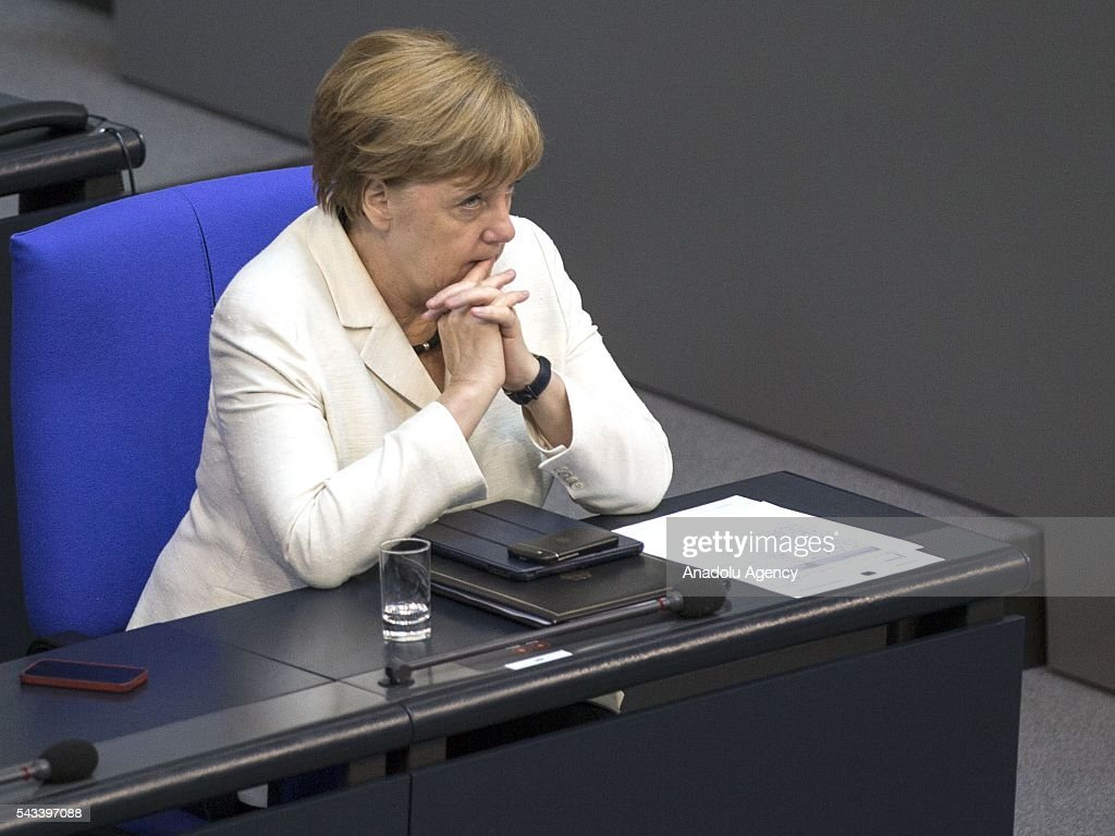 German Chancellor Angela Merkel is seen during a meeting on the results of the United Kingdom's EU Referendum at the German Federal Parliament (Bundestag) in Berlin, Germany on June 28, 2016.