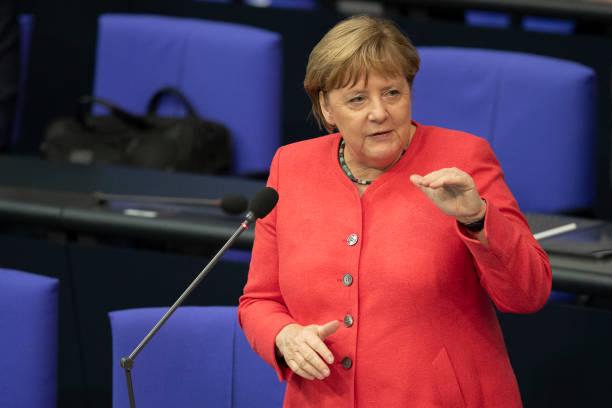 DEU: Merkel Answers Parliamentarians' Questions As Germany Assumes EU Council Presidency