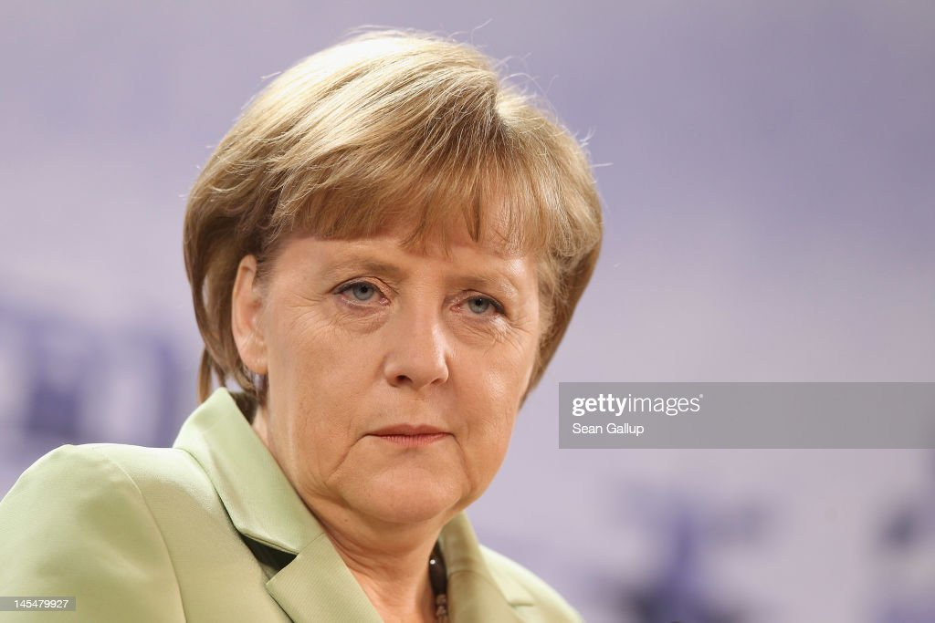 German Chancellor Angela Merkel speaks to the media at the conclusion of the 2012 Council of Baltic Sea States Summit at the Ozeaneum maritime museum...