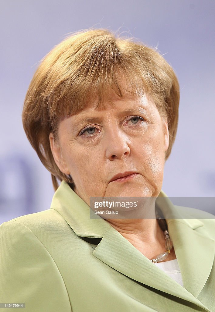 German Chancellor <a gi-track='captionPersonalityLinkClicked' href=/galleries/search?phrase=Angela+Merkel&family=editorial&specificpeople=202161 ng-click='$event.stopPropagation()'>Angela Merkel</a> speaks to the media at the conclusion of the 2012 Council of Baltic Sea States Summit at the Ozeaneum maritime museum on May 30, 2012 in Stralsund, Germany. Leaders of the eleven member states as well as representatives of the European Union are meeting to discuss matters related to energy, the environment and economic development during the two-day summit.