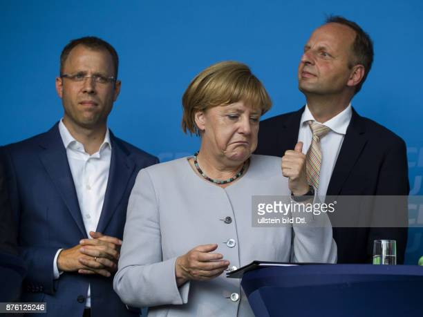 German Chancellor Angela Merkel supports the central Berlin CDU election rally with the top candidate and Interior Minister Frank_Henkel on...