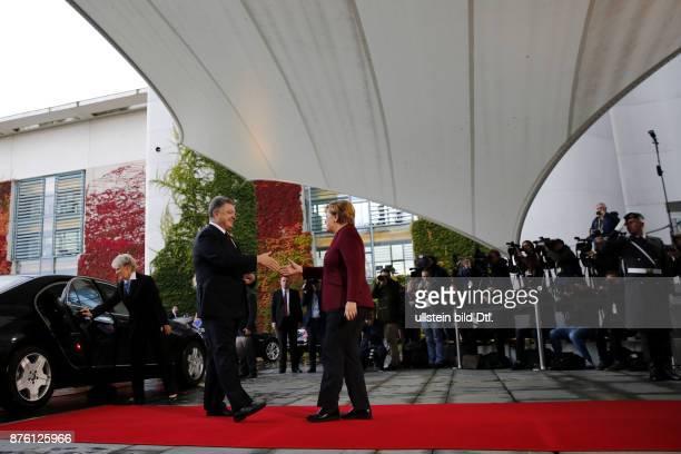 German Chancellor Angela Merkel welcomes French President Francois_Hollande Ukrainian President Petro Poroshenko and Russian President Vladimir_Putin...