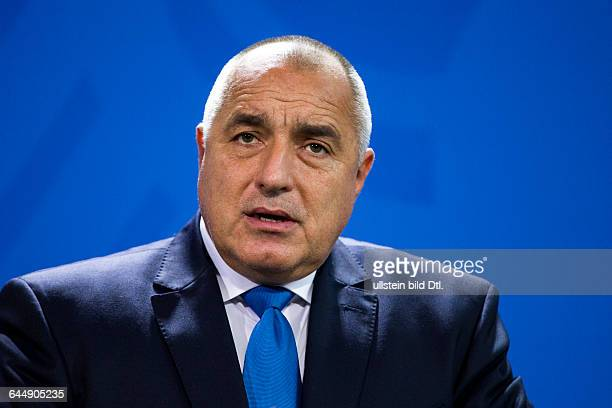 German Chancellor Angela_Merkel welcomes on December 15 2014 the Bulgarian Prime Minister Boyko Borisov with military honors on his first visit to...
