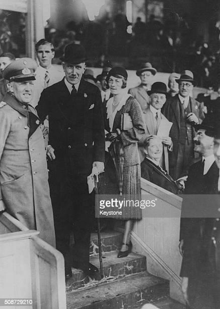 German Chancellor Franz Von Papen and General Kurt von Schleicher pictured attending the German St Leger Horse Race at Grunewald July 17th 1932