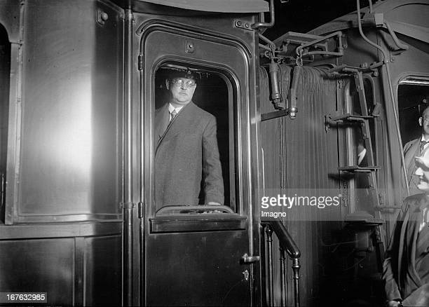 German chancellor Hermann Mueller on a trip to Geneva where he is going to take part in a League of Nations conference Germany Photograph About 1925...