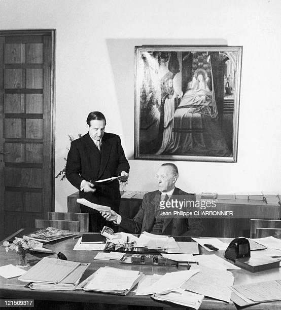 German Chancellor Konrad Adenauer Around 1958