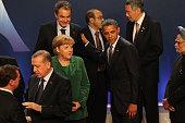 German Changellor Angela Merkel Spain's Prime Minister Jose Luis Rodriguez ZapateroTurkish Prime Minister Tayyip Erdogan USPresident Barack Obama and...