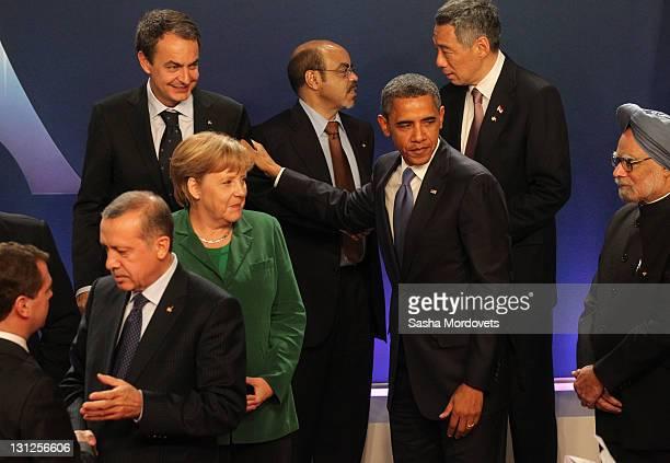 German Changellor Angela Merkel Spain's Prime Minister Jose Luis Rodriguez Zapatero Turkish Prime Minister Tayyip Erdogan USPresident Barack Obama...