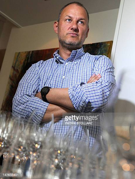 German chef Frank Rosin poses for a picture in his restaurant 'Rosin' on April 1 2012 in Dorsten western Germany The restaurant Rosin got two stars...