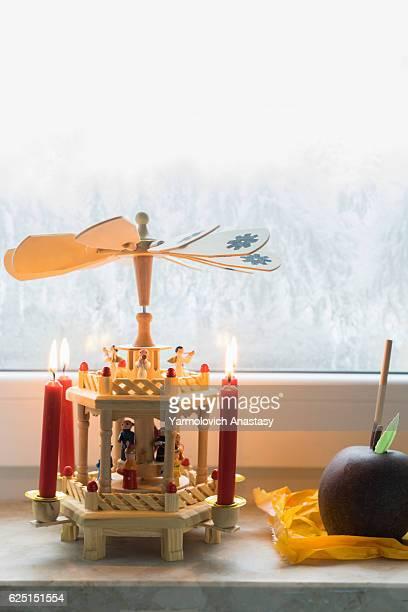 German christmas wooden pyramid