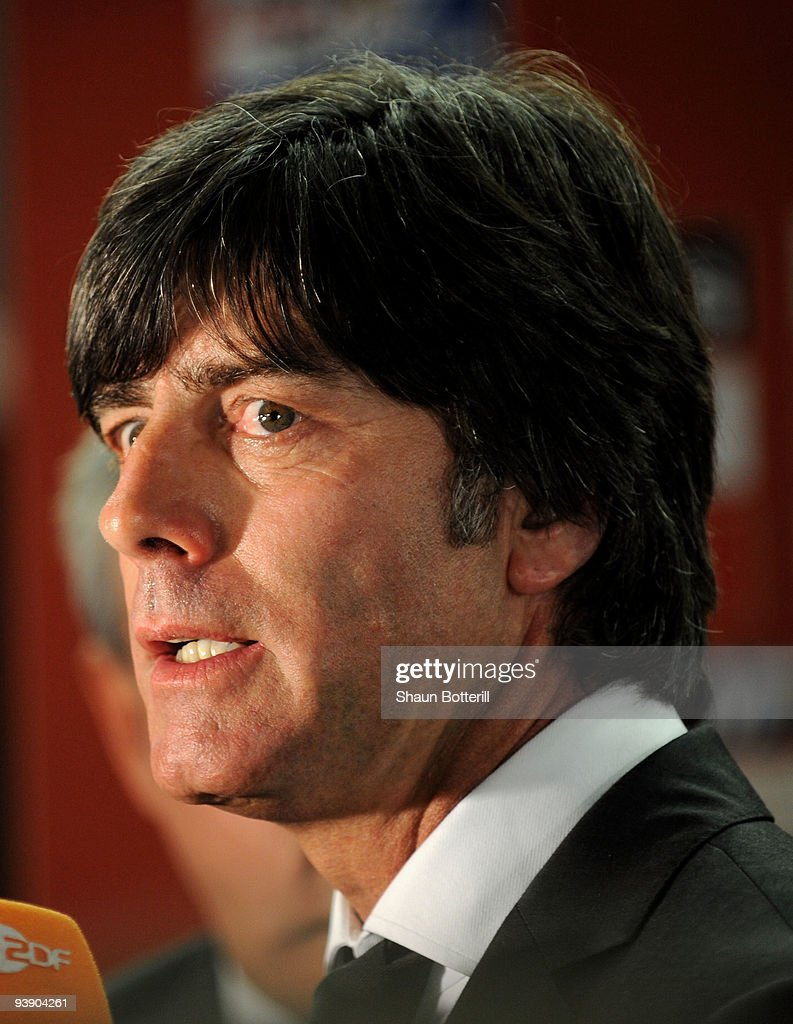 German coach Joachim Loew speaks after the Final Draw for the FIFA World Cup 2010 December 4, 2009 at the International Convention Centre in Cape Town, South Africa.