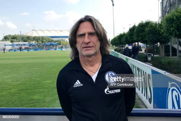 German coach Norbert Elgert in charge of the Under19 team at the Schalke's youth academy poses at the footbal club's training grounds on October 2...