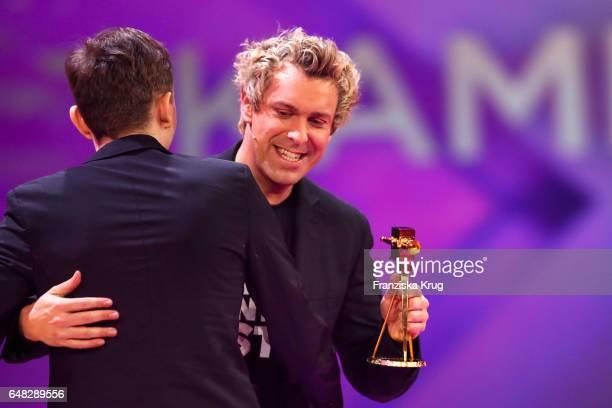 German comedian and award winner Sascha Grammel during the Goldene Kamera show on March 4 2017 in Hamburg Germany
