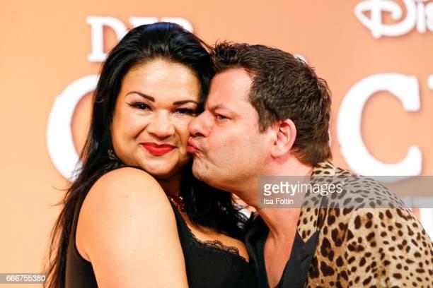 German comedian Ingo Appelt and his wife Sonja Appelt attend the premiere of the musical 'Der Gloeckner von Notre Dame' on April 9 2017 in Berlin...