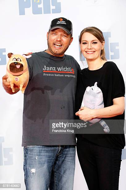 German comedian Mario Barth and german comedian Martina Hill attend the premiere of the film 'PETS' at CineStar on July 20 2016 in Berlin Germany