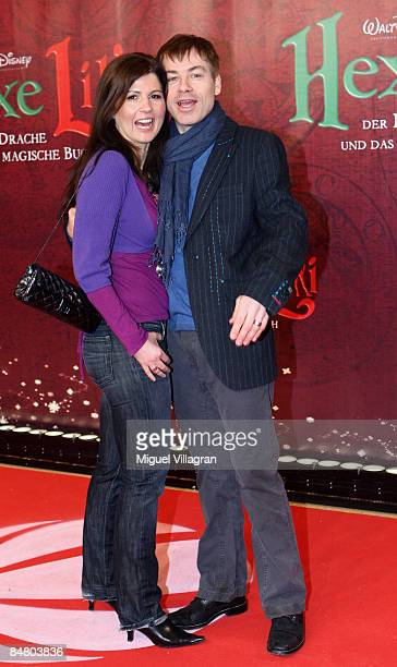 German comedian Michael Mittermeier and his wife Gudrun pose for the media during the premiere of the movie 'Lilli The Witch The Dragon And The...