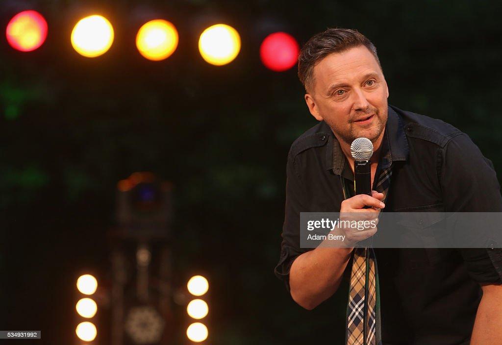 German comedian Ole Lehmann performs at the Freilichtbuehne an der Zitadelle in Spandau on May 28, 2016 in Berlin, Germany.