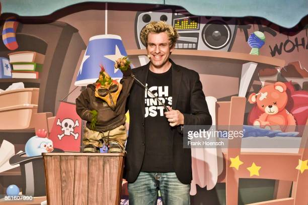 German comedian Sascha Grammel performs live during his show at the Tempodrom on October 13 2017 in Berlin Germany