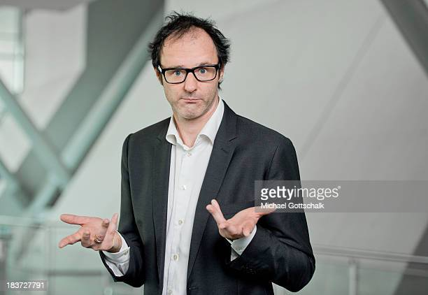German comedien Vince Ebert poeses during a portrait session at the 2013 Frankfurt Book Fair on October 9 2013 in Frankfurt Germany This year's fair...