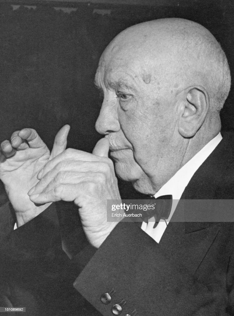 German composer <a gi-track='captionPersonalityLinkClicked' href=/galleries/search?phrase=Richard+Strauss+-+Composer&family=editorial&specificpeople=239044 ng-click='$event.stopPropagation()'>Richard Strauss</a> (1864 - 1949), 1947.