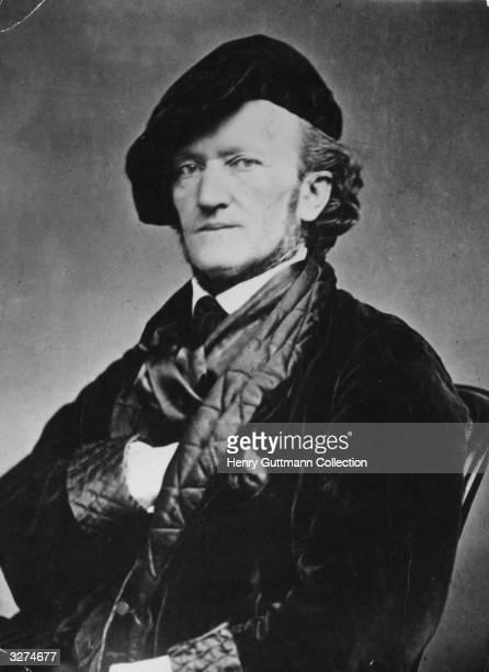 German composer Richard Wagner circa 1868