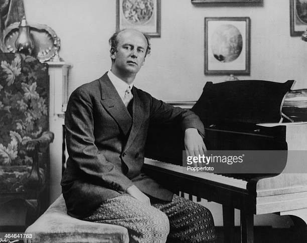German conductor and composer Wilhelm Furtwangler at a piano circa 1934